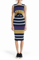 KENDALL + KYLIE Women's Kendell + Kylie Stripe Midi Dress