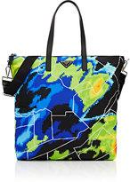 Prada Men's Digital-Earth-Print Shopper Tote Bag