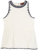 7 For All Mankind Embroidered High Neck Tank (Big Girls)