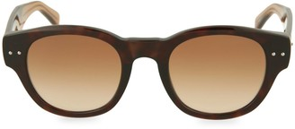 Bottega Veneta 48MM Rounded Square Sunglasses