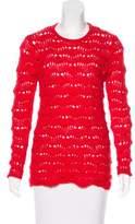 Isabel Marant Long Sleeve Open Knit Sweater