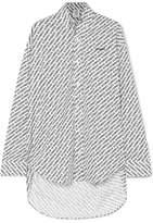 Vetements Oversized Printed Cotton-poplin Shirt - Black