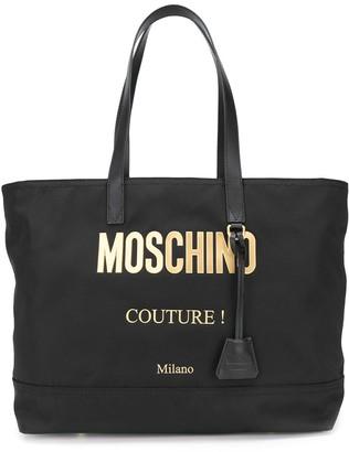 Moschino Logo Plaque Tote