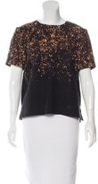 Burberry Abstract Print Wool Top