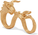 Valentino Ox gold-plated three-finger ring