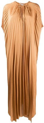 Stella McCartney Cape-Sleeve Pleated Dress