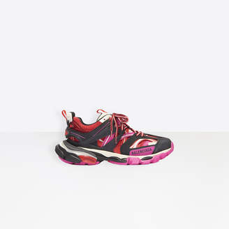 Balenciaga Track in black, pink and red mesh and nylon