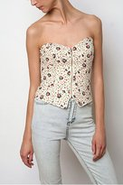 Printed Flannel Bustier