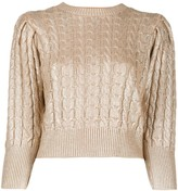 MSGM metallic cable knit sweater