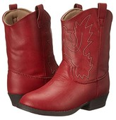 Baby Deer Western Boot (Infant/Toddler/Little Kid) (Red) Cowboy Boots