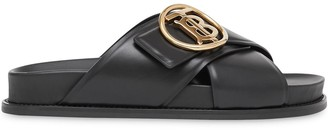 Burberry TB plaque slide sandals
