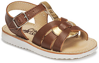 Citrouille et Compagnie MINOTTE girls's Sandals in Brown