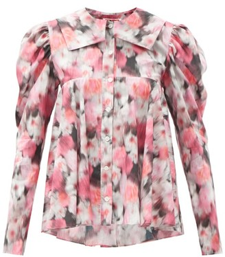Matty Bovan - Dolly Balloon-sleeves Floral-print Blouse - Pink Multi
