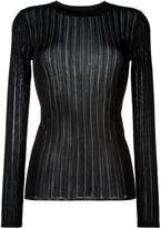 DKNY sheer stripe jumper - women - Viscose - L