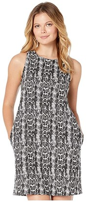 Karen Kane A-Line Dress (Black/White) Women's Dress