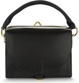 Sacai Hybrid leather satchel