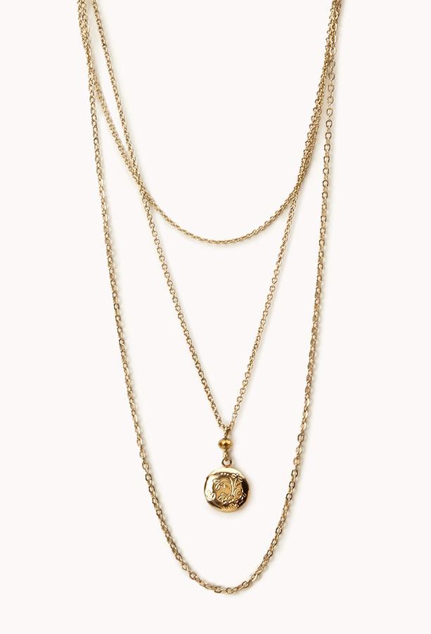 Forever 21 Heirloom Locket Necklace