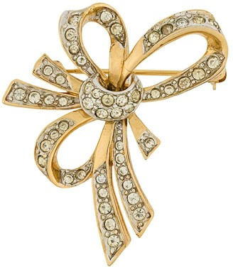 Nina Ricci Pre-Owned 1980s embellished bow brooch