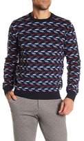 Perry Ellis Patterened Crew Neck Sweater