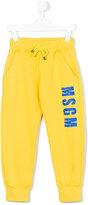 MSGM logo track pants - kids - Cotton - 4 yrs