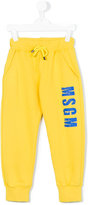MSGM logo track pants - kids - Cotton - 6 yrs