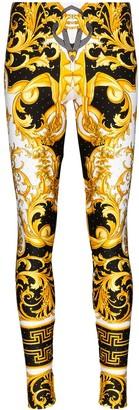 Versace Baroque print leggings