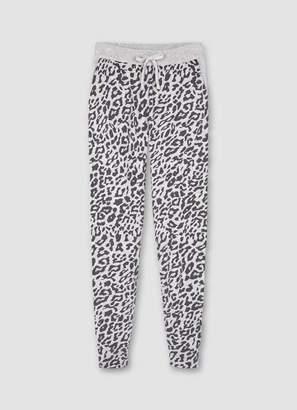 Mint Velvet Grey Leopard Knitted Joggers