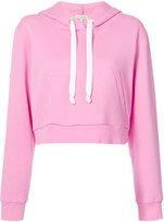 Natasha Zinko cropped hoodie - women - Cotton/Polyester - L