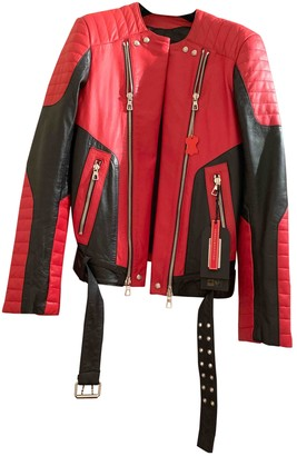 Balmain For H&m Red Leather Jackets