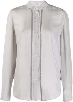 Brunello Cucinelli crystal trim shirt