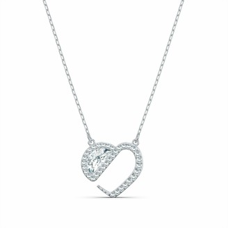 Swarovski Women's Hear Heart Necklace Stunning Heart Necklace with Crystals Rhodium Plated from the Amazon Exclusive Hear Collection