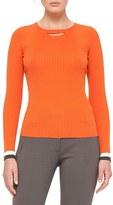 Akris Punto Women's Bicolor Rib Knit Wool Sweater