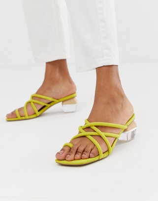 ASOS DESIGN Hawaii strappy block heeled sandals