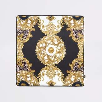 River Island Black animal medallion cushion cover