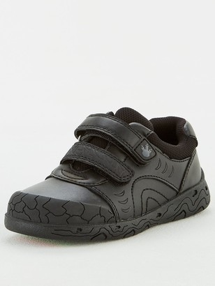 Very ToeZone at V by VeryBoys Dinosaur Leather School Shoe - Black