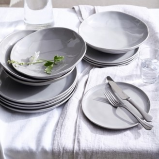 The White Company Portobello 12 Piece Dinner Set, Grey, One Size