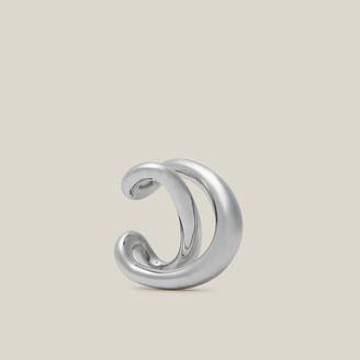 Charlotte Chesnais Metallic Initial Sterling Silver Single Ear Cuff