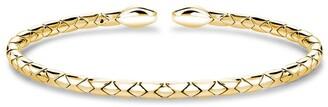 Pragnell 18kt yellow gold Groove textured bangle bracelet