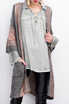 Easel Wide Sleeve Boho Cardigan