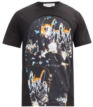 Comme des Garçons Shirt X Futura Printed Cotton-jersey T-shirt - Black