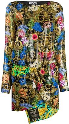 Versace Floral Print Dress