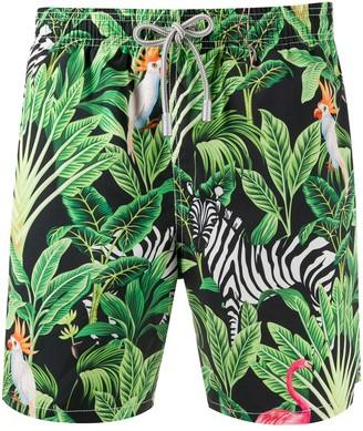 MC2 Saint Barth Tropical Print Swim Shorts