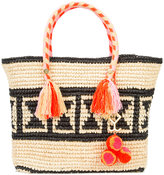 Yosuzi Juli Geo tassel rope tote - women - Cotton/Straw - One Size