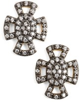 Freida Rothman Women's 'Metropolitan' Maltese Cross Stud Earrings