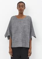 Issey Miyake grey corn knit top