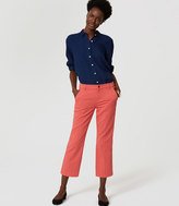 LOFT Straight Crop Jeans in Chrysanthemum Red