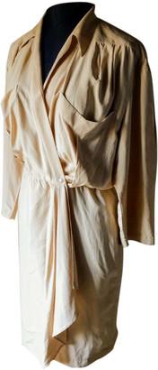 Thierry Mugler Pink Silk Dresses