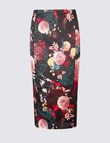 Per Una Floral Print Pencil Skirt