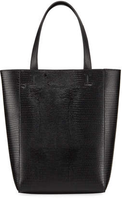French Connection Fifi Small Lizard-Embossed Tote Bag