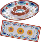 Certified International 2 Piece Vera Cruz Chip & Dip And Rectangular Platter